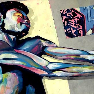 210x100 oil/oil pastel on canvas