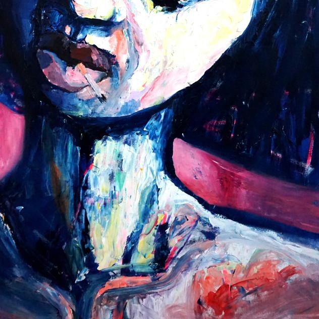 210x100 oil / oil pastel on canvas