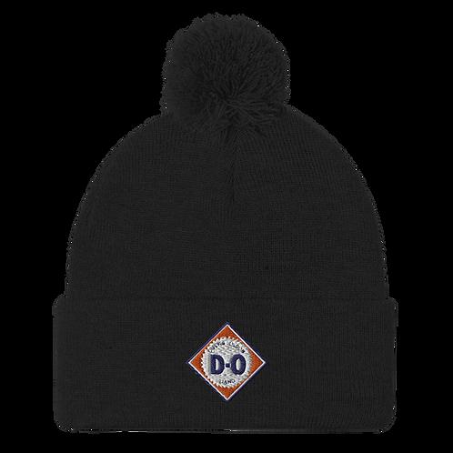 D-O Logo Pom-Pom Beanie