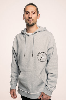 NO EGOS HOODY BLACK ON GREY