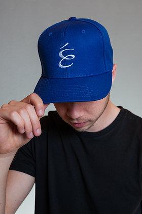 LOGO SNAPBACK WHITE ON BLUE