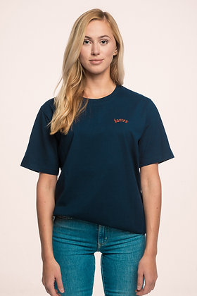 COLLEGE LOGO SHIRT RED ON NAVY