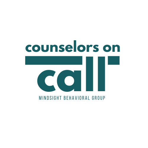 Counselors on call graphic representing how Mindsight Behavioral Health is offering online and virtual mental health support to the state of Kentucky