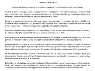 Communiqué de presse - visite de Jean-Baptiste Lemoyne dans les Landes