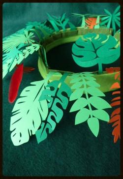 Feuilles tropicales Papier