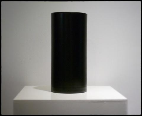 Vase cylindre noir