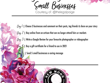 5 Day Challenge to Support Small Businesses
