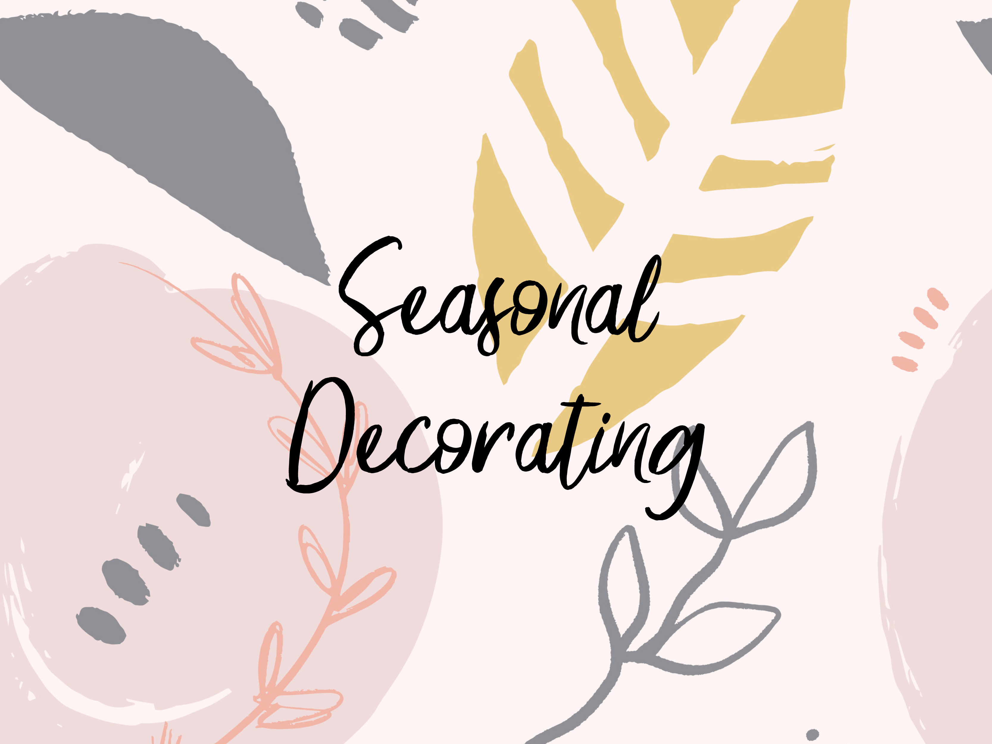 Seasonal Decorating Consultation