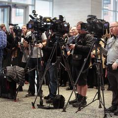 Media at a grandopening event