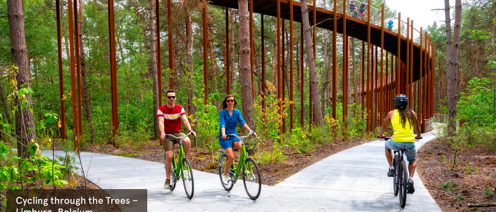 Hechtel-Eksel Cycle Path takes you above the trees