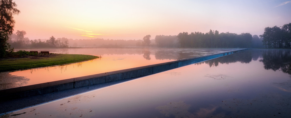 Cycling through the water Bokrijk
