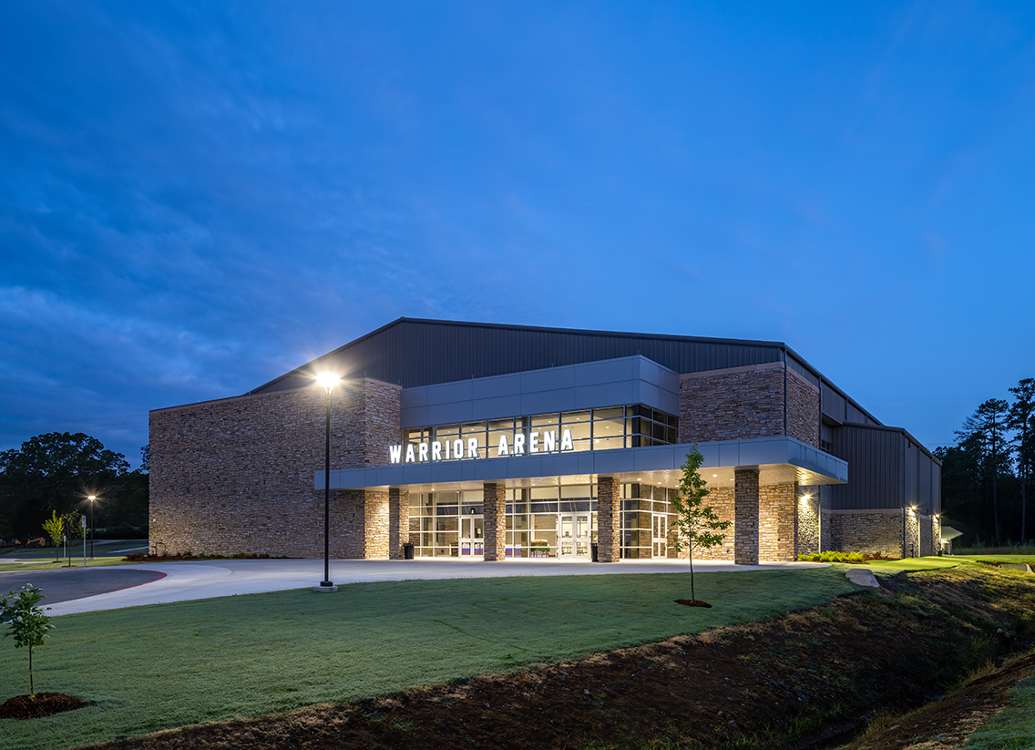 Little Rock Christian Academy Warrior Arena – Exterior