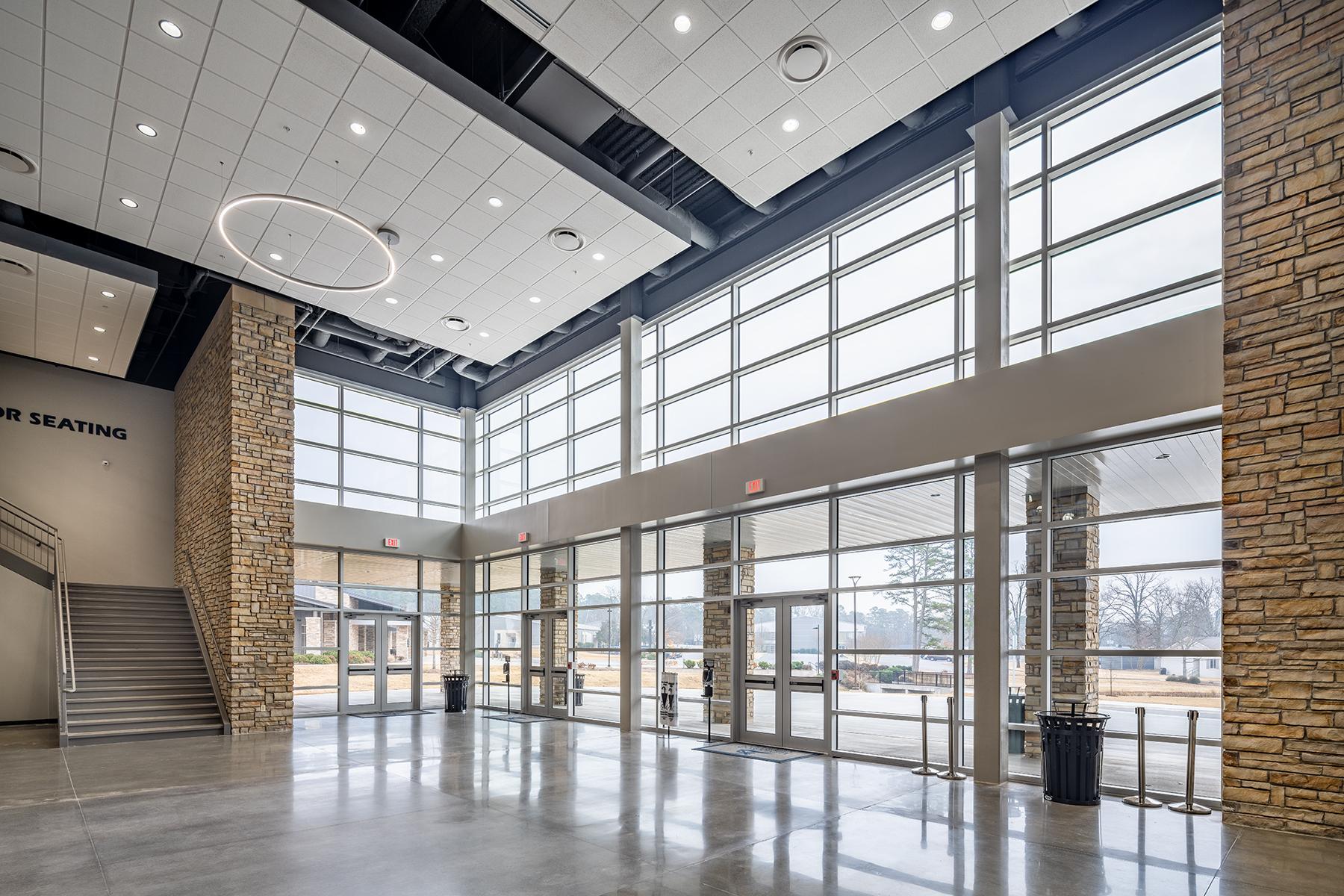 Little Rock Christian Academy Warrior Arena – Lobby