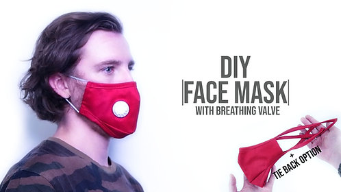 Face Mask + Breathing Valve Pattern (Download)