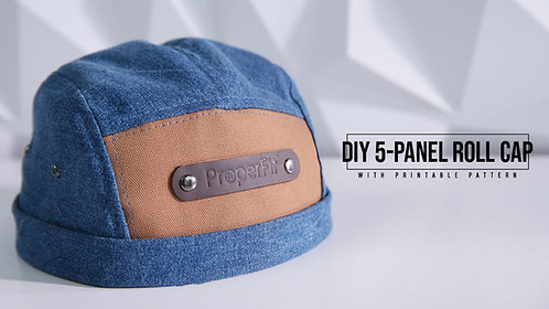 5 Panel Roll Cap Pattern (Download)