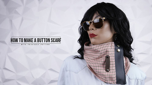 Button Scarf Pattern (Download)