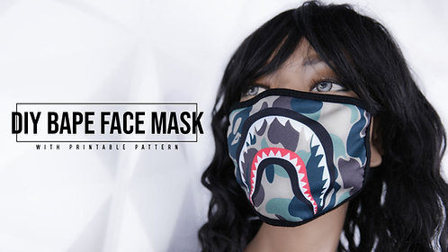 Bape Style Face Mask Pattern (Download)