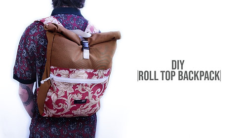 Roll Top Backpack Pattern (Download)