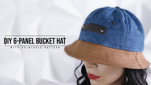6-Panel Bucket Hat Pattern (Download)