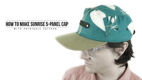 Sunrise 5-Panel Cap Pattern