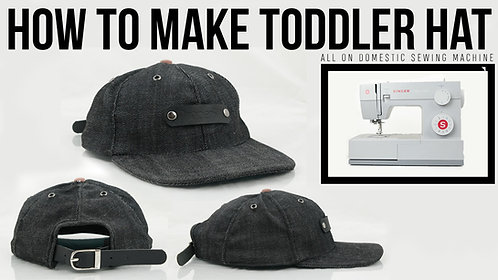 Toddler 6 Panel Cap Pattern