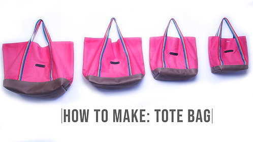 Reusable Tote Bag Pattern (Download)
