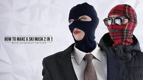 Ski Face Mask 2 in 1 Pattern (Download)