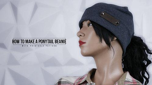 Ponytail Beanie Pattern (Download)
