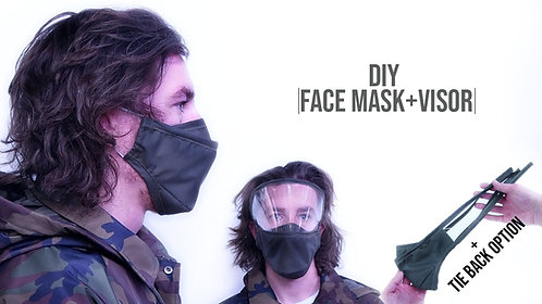 Face Mask Pattern + Visor Eye Guard (Download)