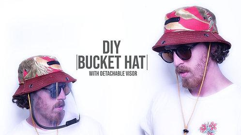 Bucket Hat with Detachable Eye Shield Pattern (Download)