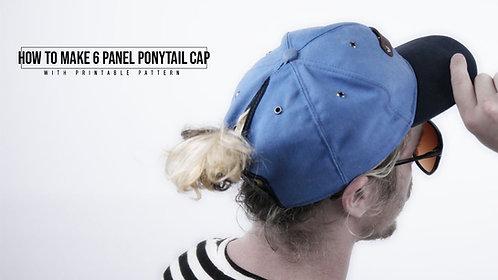 6 Panel Ponytail Cap Pattern