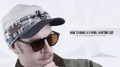 5 Panel Hunting Cap Pattern (Download)