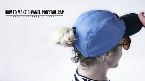5-Panel Ponytail Cap Pattern (Download)