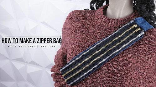 Zipper Shoulder Bag Pattern (Download)
