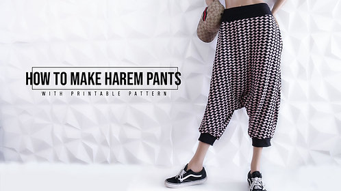 Harem Pants Pattern (Download)