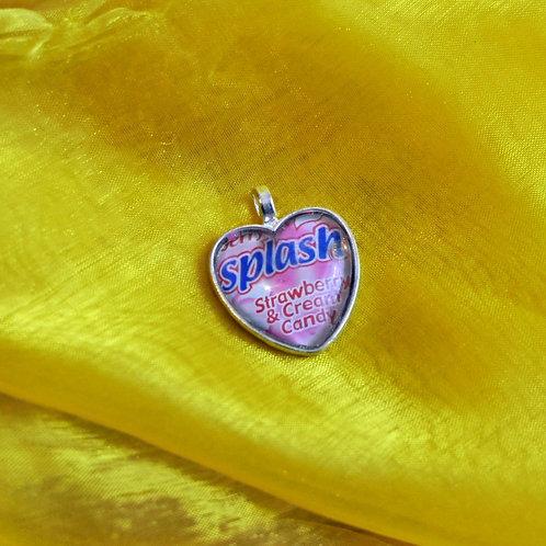 Antique Silver Heart shaped Necklace - Splash