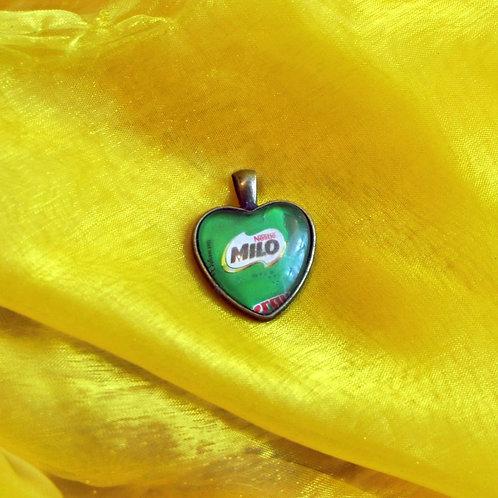 Antique Bronze Heart shaped Necklace - Milo
