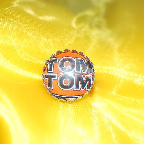 Antique Silver Circle Shape Medium Ring - TomTom ((LAGOS))