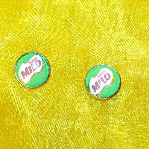 Silver Circle Stud- Milo ((LAGOS))