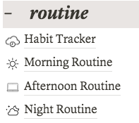 (Over)Organizing My Life - Routines
