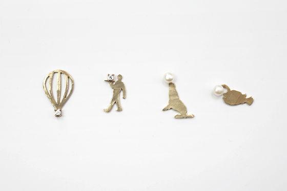laboratorium jewel & pearl figure posts