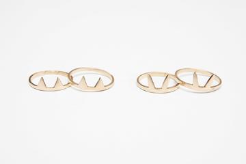 cat & rabbit ring