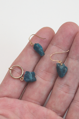 mineralogical fook & earring