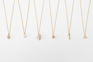 mineralogical figure necklace