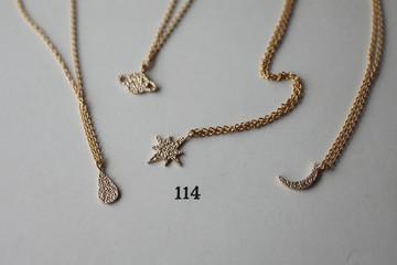 sparkle texture necklace
