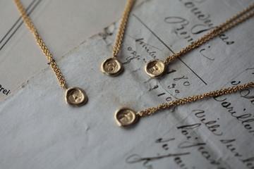 alphabetical sealing wax necklace