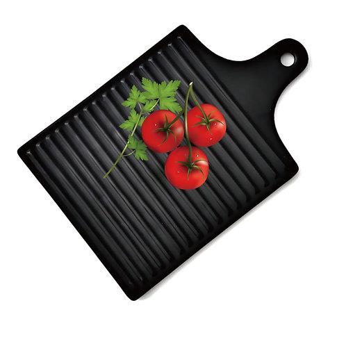 瑞典【GREEGREEN】鎢砂釉正方形陶瓷餐盤 (黑色)