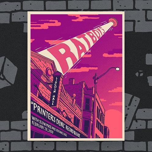 'Printer's Devil' Record Release Show Poster