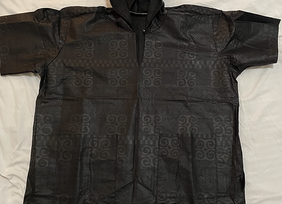 Hooded Short Sleeve Shirt - Pewter