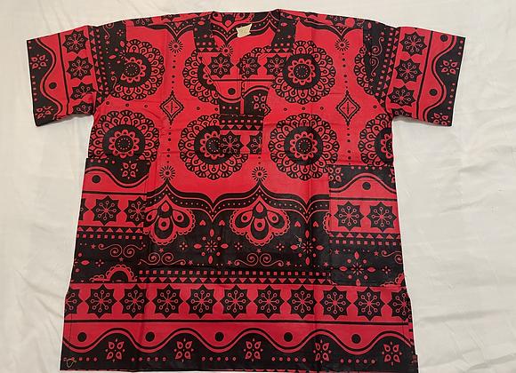 copy of Short Sleeve Shirt - Red/Black
